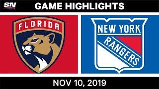 NHL Highlights   Panthers vs. Rangers – Nov. 10, 2019