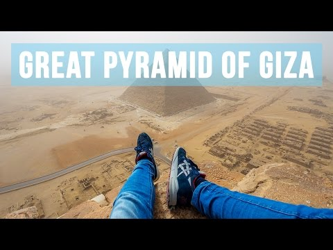 This Guy Managed To Climb One Of The Pyramids And You'll Never Believe The View