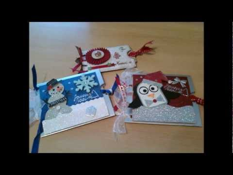 scrapbooking cartes de no l christmas cards youtube. Black Bedroom Furniture Sets. Home Design Ideas