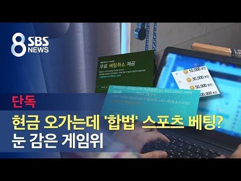 [단독] 현금 오가는데 '합법' 스포츠 베팅?…눈 감은 게임위 / SBS