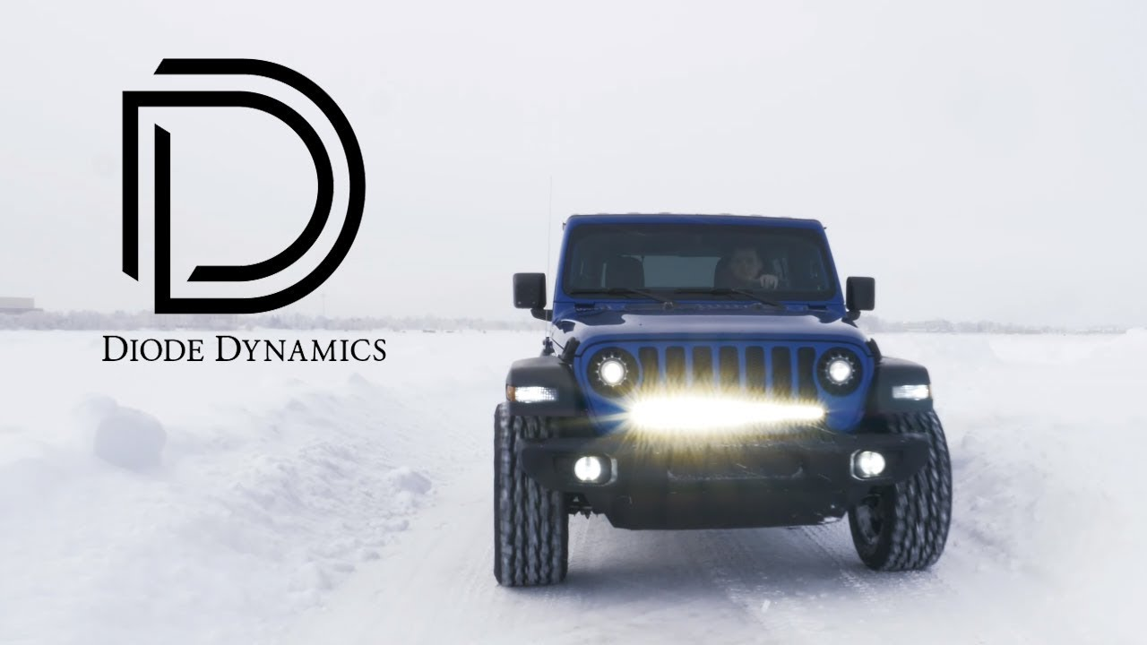 Diode Dynamics Led Light Bar For 2018 Jeep Wrangler Jl Stage Series Bumper Mount