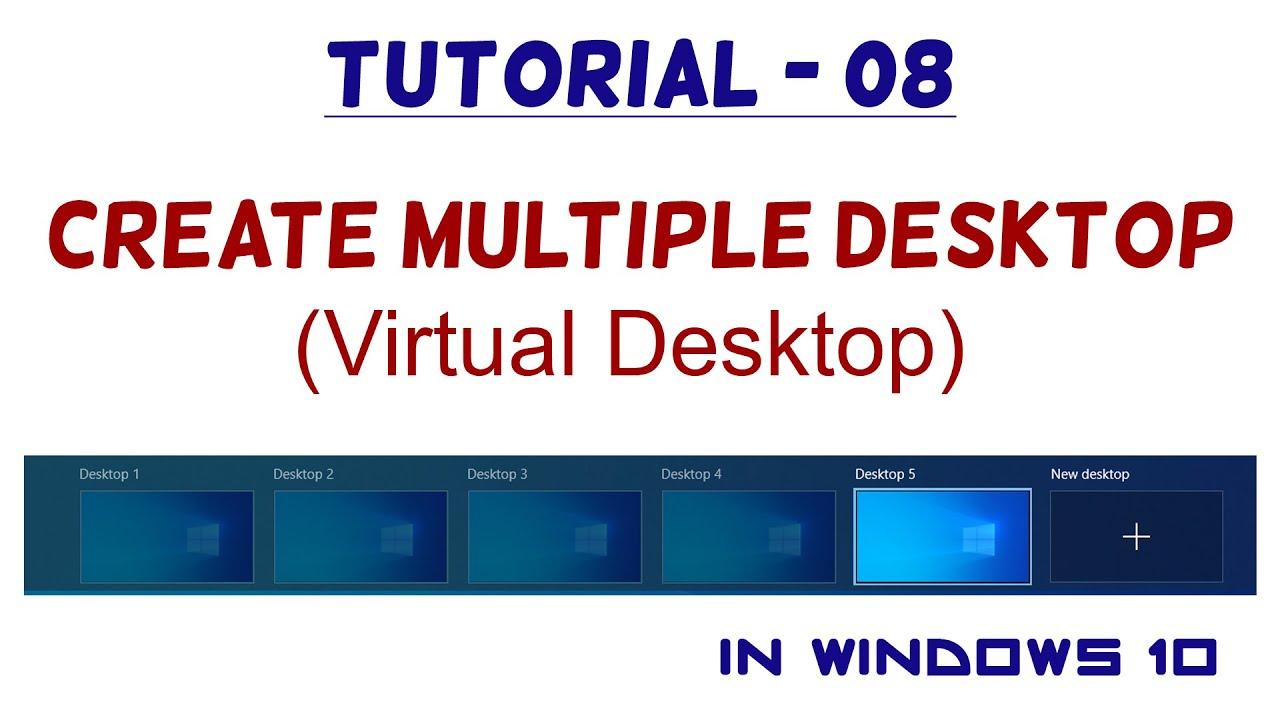 10   Create Multiple Desktop / Virtual Desktop   Windows 10 Tutorial
