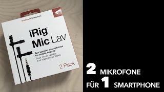 iRig Mic Lav 2 Pack – ideal für Interviews unterwegs