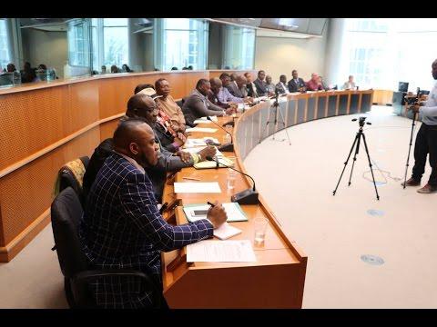 Bruxelles: Conference de Presse sur le Drame du Kasai au Parlement Europeen- Basile Katamba mobilise