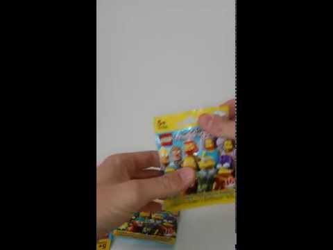 LEGO minifigures unboxing 1 / LEGO Minifiguren auspacken 1 SIMPSONS
