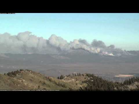 Bison Fire video from University of Nevada, Reno seismological laboratory