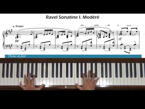 Ravel Sonatine 1st movement Modéré Piano Tutorial