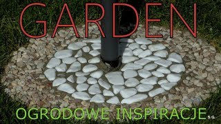 GARDEN (3) - Ogrodowe inspiracje - Kamienna mozaika pod parasolem