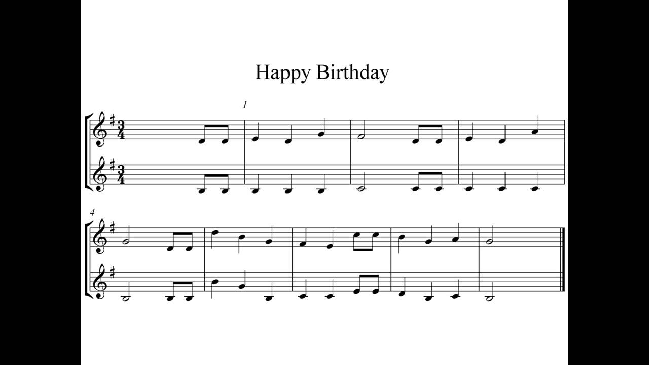 Play Clarinet Happy Birthday