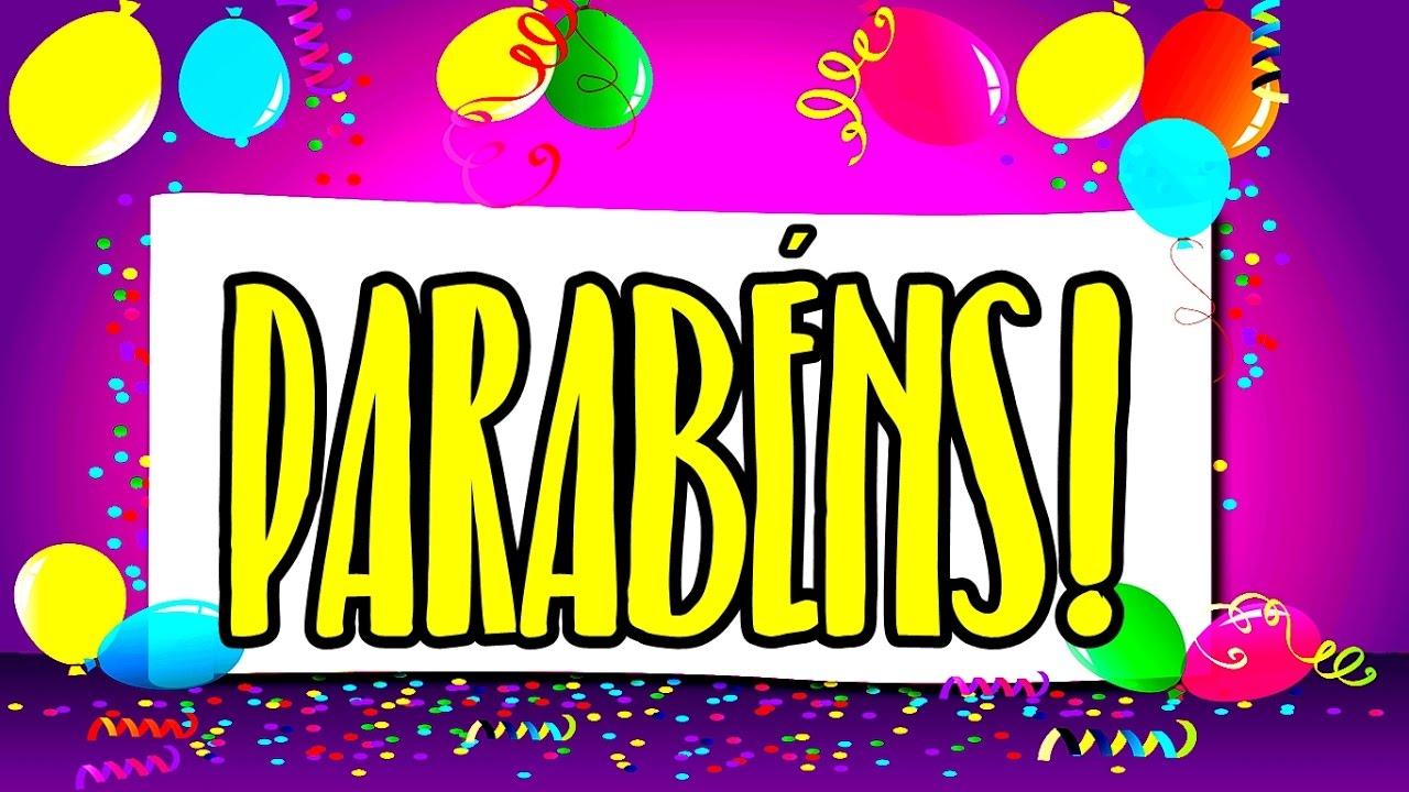 mensagem de aniversário animada - parabéns!