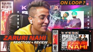 KARMA FEAT. KR$NA ZARURI NAHI REACTION | KR$NA JARURI NAHI REACTION | T.7 LIFESTYLE