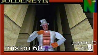 GoldenEye-007 (N64)-Gameplay-Walkthrough-extra-temple-Agente 00 mision 60 Al 100% truco 6:00 all gun