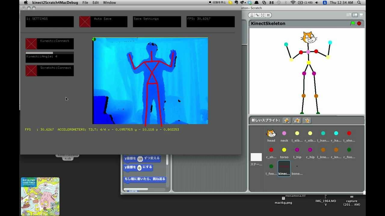Kinect connect to Scratch on Mac