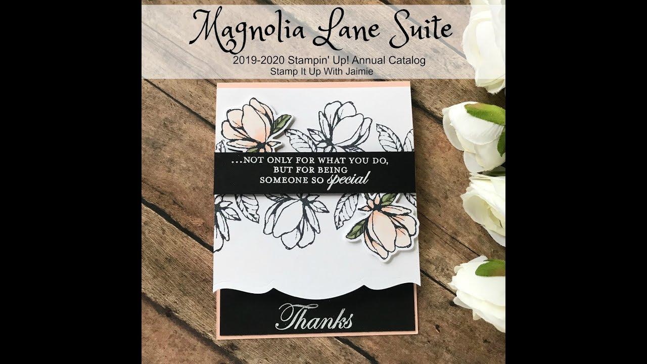 Stampin Up Sneak Peek Magnolia Lane Suite Card