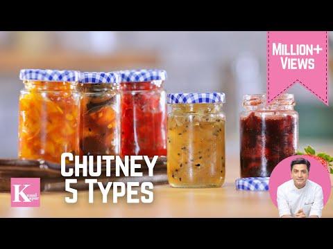 5 Quick Chutney Recipes | Kunal Kapur Recipes