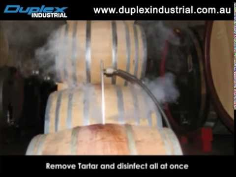 Wine Barrel Cleaning with Duplex Industrial Cleaning Equipment
