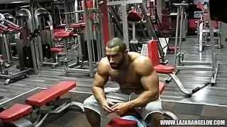 Lazar Angelov arms workout 2013