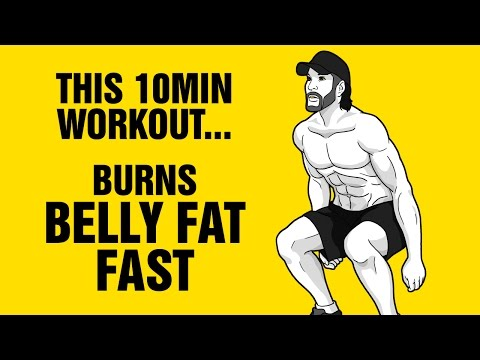 10 Min Hybrid Extreme Fat Burning Workout - Burn Belly Fat Fast