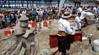 2010 US Open Sand Castle Competition Imperial Beach - Building Sand Castles