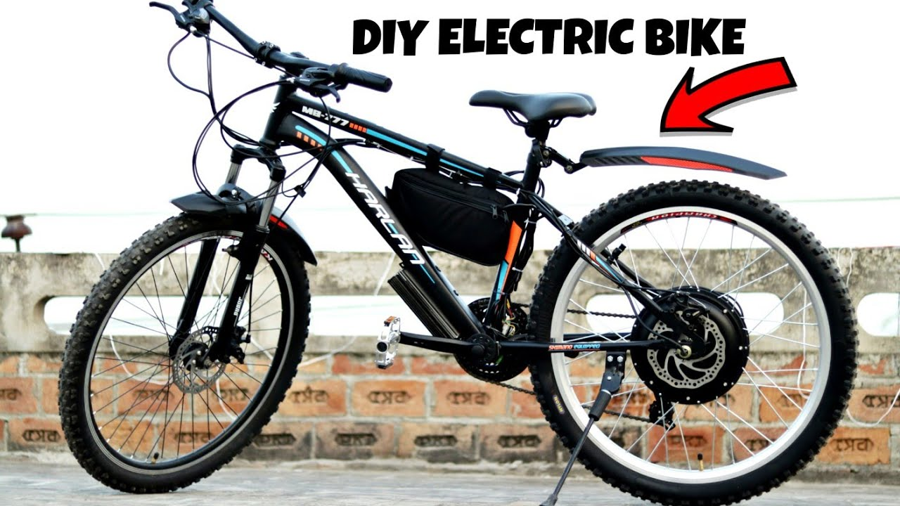 How To Make Electric Bike At Home Youtube