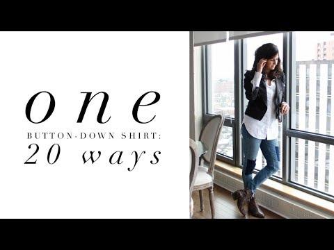 One Button-Down Shirt: 20 Ways | Seasonless Capsule Closet | Minimalism | Styling Hacks