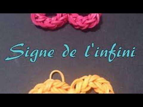 Signe de l 39 infini rainbow loom youtube - Le signe de l infini ...