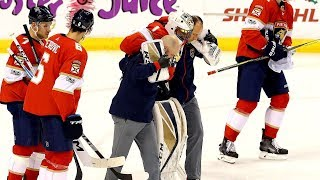 NHL: Goalies Helped off the Ice