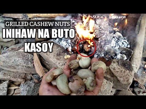 INIHAW NA BUTO NG KASOY - GRILLED CASHEW NUTS