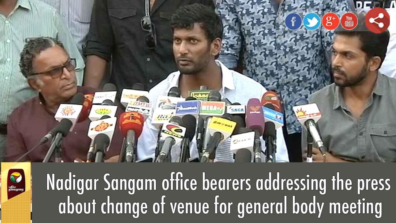 change of office bearers