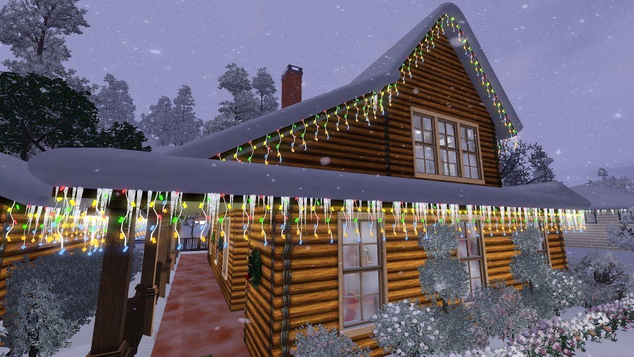 sims 3 christmas house 2012 christmas lodge - Christmas Lodge