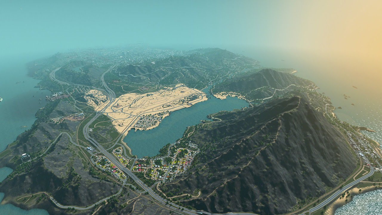 Los Santos in Cities: Skylines - IGN Plays on modern combat map, socom map, grand theft auto map, burlington map, gta2 map, la noire map, hilton guam map, gta3 map, halo map, need for speed map, the sims map, skyrim map, vice city map, earn to die 2 map, toronto map, igi 3 map, game map, gtav map, gat map, carcer city map,