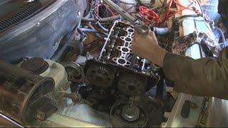 видео Замена прокладки ГБЦ ВАЗ 2110 (8 клапанов)