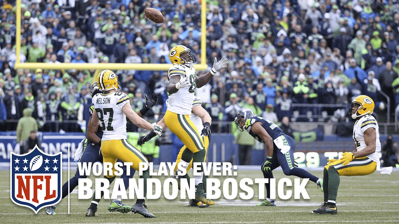 Brandon Bostick Can T Catch The Kick Nfl S Worst Plays Ever Youtube