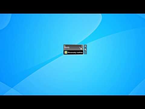 Slovak Radio Windows 7 Desktop Gadget