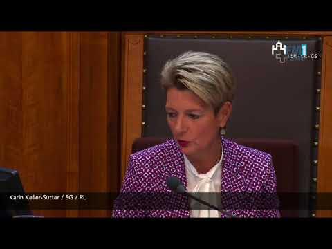 Karin Keller-Sutter würdigt Schneider Ammann