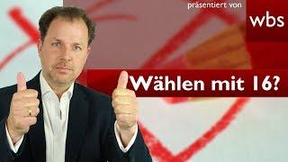 Dürft ihr bald ab 16 wählen? | Rechtsanwalt Christian Solmecke