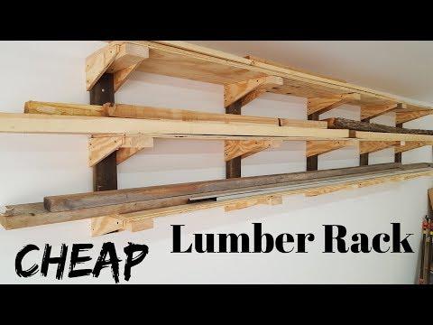 DIY Wall Lumber Rack