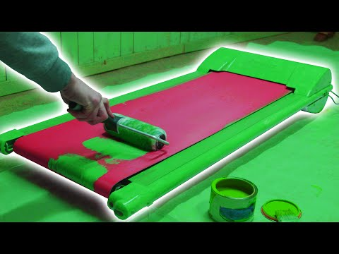 Paint A GREEN SCREEN Treadmill Tutorial