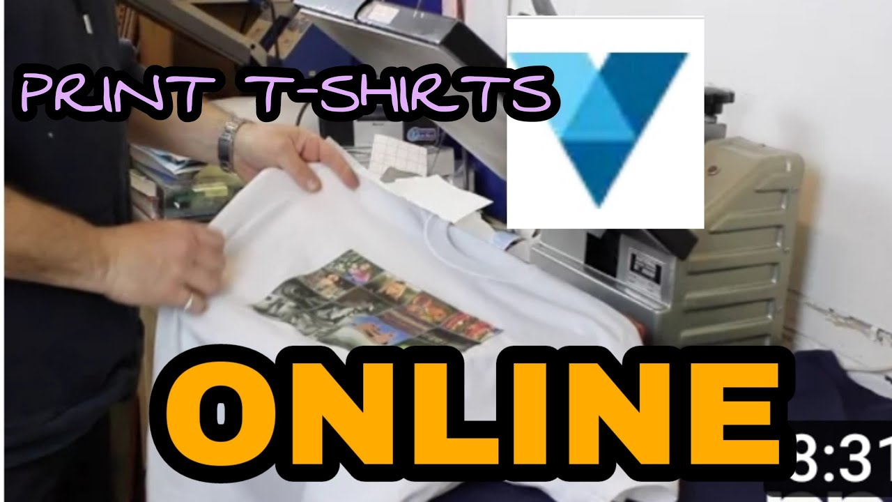 How To Print T Shirtscapspens Anything Online Youtube