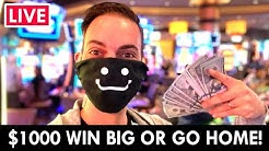 🔴 LIVE 🎰 $1000 WIN BIG or Go Home!! 🎲 Gila River Hotel & Casino Wild Horse Pass