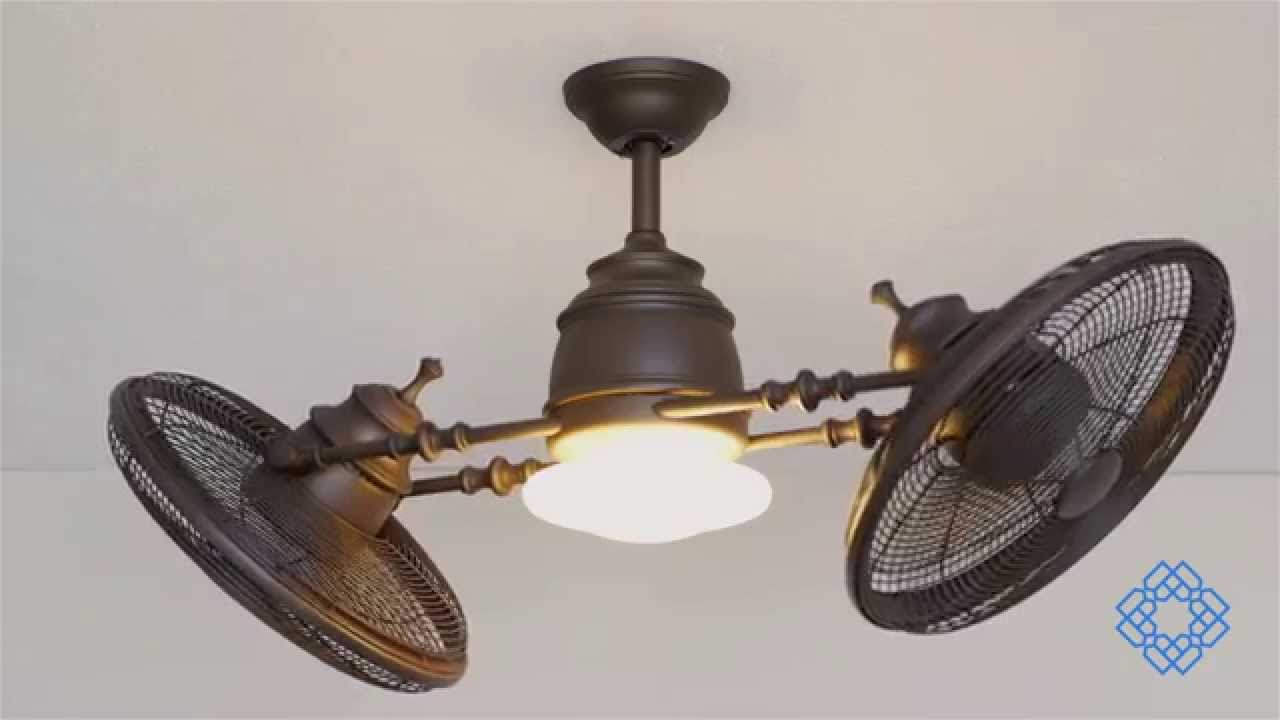 Minka Aire Vintage Gyro Ceiling Fan - Bellacor - YouTube