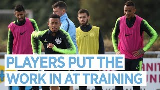 THE PLAYERS TRAIN AFTER WIN V HOFFENHEIM | MAN CITY TRAINING