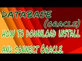 ORACLE | How to download , install and connect Oracle easy method😀🤗🙃