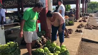 Georamble with Professor Warwick Murray - Apia Central Market, Samoa