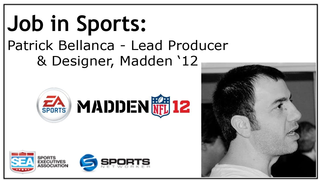 job in sports lead producer and designer ea sports madden  job in sports lead producer and designer ea sports madden 12 patrick bellanca