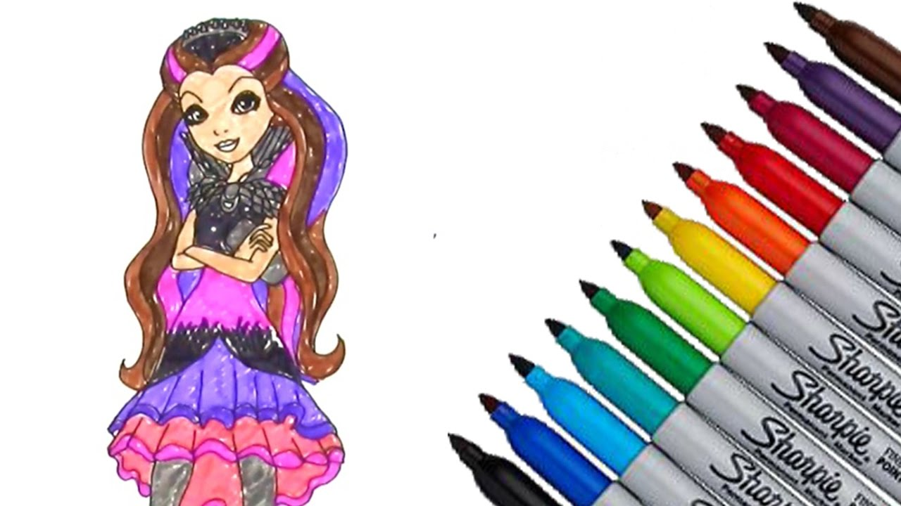 Ever After High Raven Queen Coloring Page 2016 New HD Video For Kids