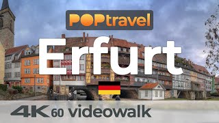 Walking in ERFURT / Germany - An Evening in the Old Town - 4K 60fps (UHD)
