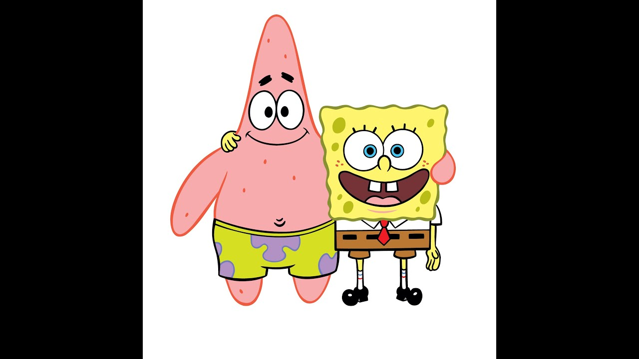 color spongebob and patrick time laps youtube