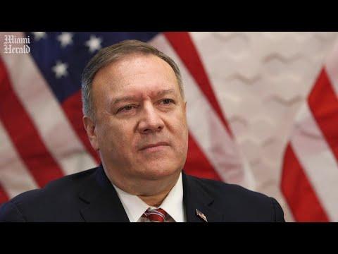 Pompeo habla sobre la política de Estados Unidos en Venezuela y Cuba