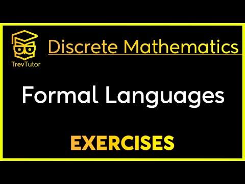 [Discrete Math 1] Formal Languages Examples